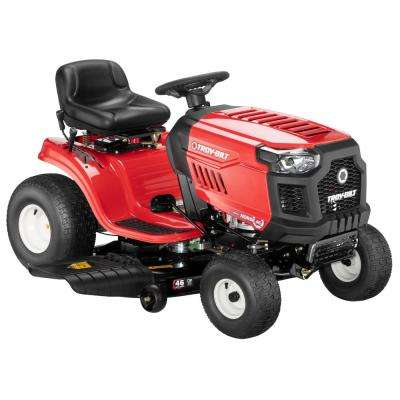 Horse 46 in. 20 hp V-Twin Automatic Drive Briggs and Stratton Gas Lawn Tractor Riding Mower with Mow in Reverse