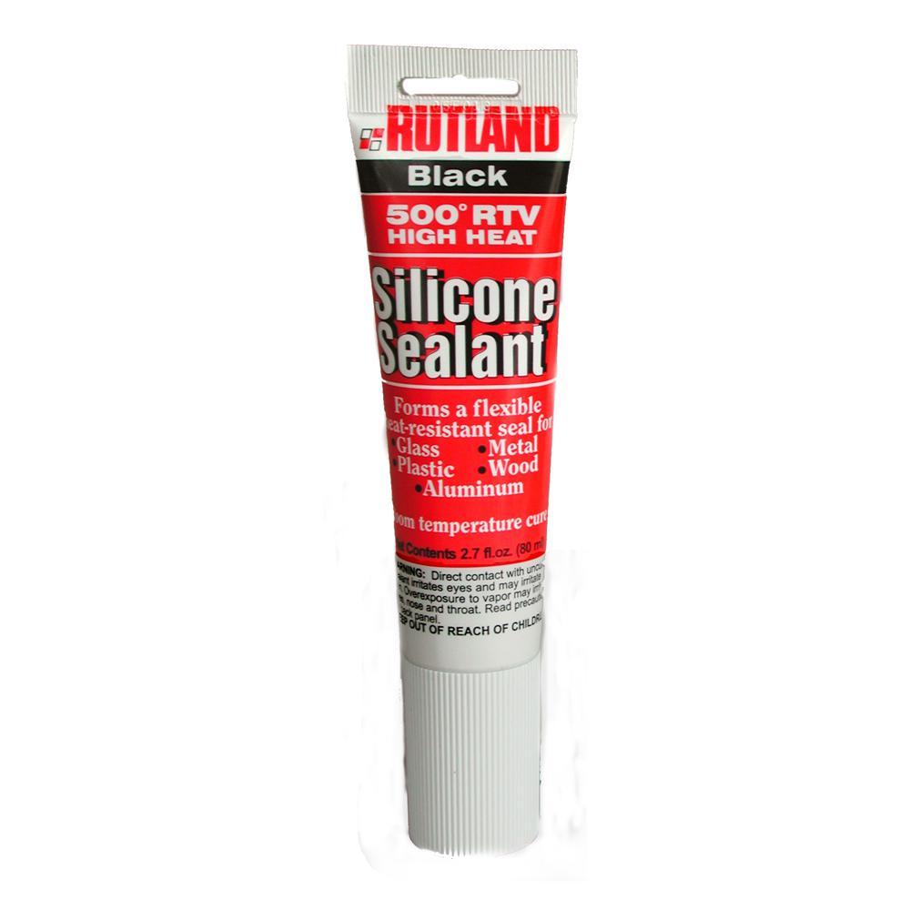 rutland 2 3 fl oz 500 f rtv high heat silicone black tube 76a