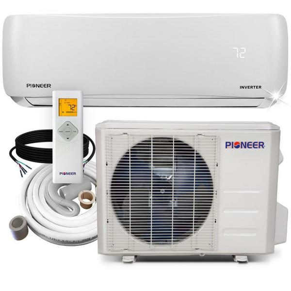 12,000 BTU 1 Ton 19.5 SEER Ductless Mini Split Inverter+ Wall Mounted Air Conditioner with Heat Pump 208/230-Volt