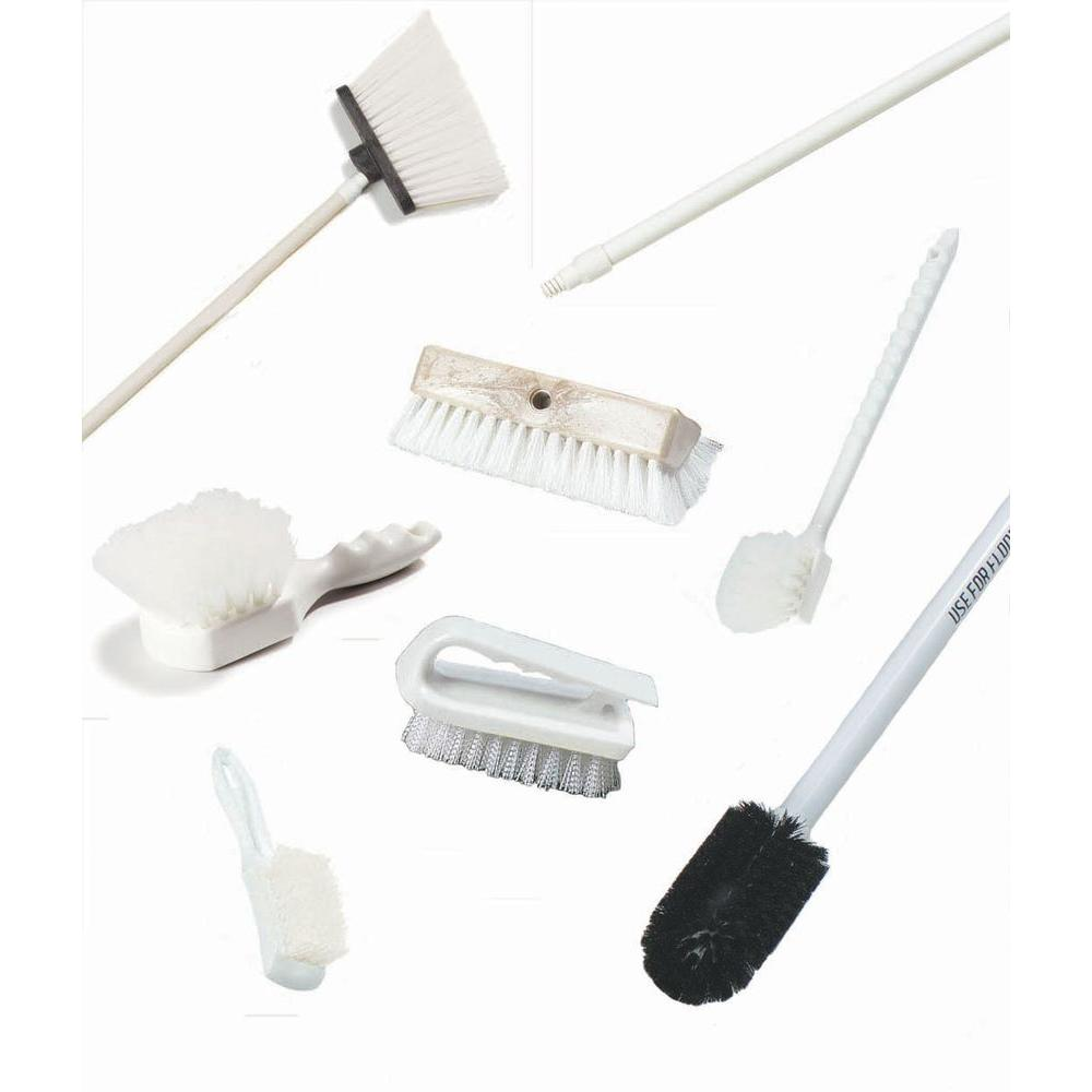 Deli Supermarket Complete Kit Cleaning Tools in White