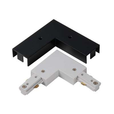 2400-Watt Linear Track Right Angle Coupler with White and Black Cover