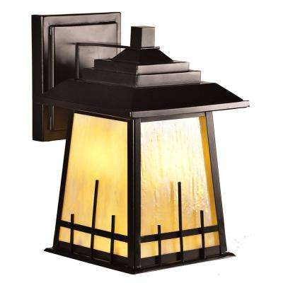Clyde 1-Light Oil Rubbed Bronze Outdoor Integrated LED Wall Mount Lantern