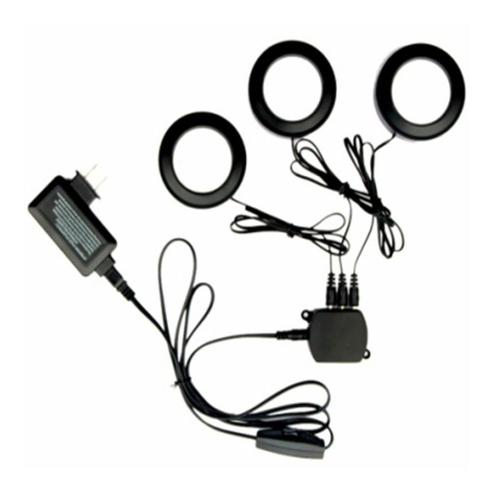 Commercial Electric 3-Light LED Black Puck Light Kit
