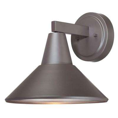 Bay Crest 1-Light Dorian Bronze Outdoor Wall Lantern Sconce