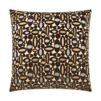 Centric Aqua Feather Down 24 in. x 24 in. Standard Decorative Throw Pillow