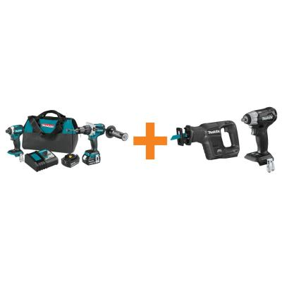18V LXT Brushless 2-Piece Combo Kit with Bonus 18V LXT Brushless Recipro Saw and 18V LXT Brushless 3/8 in. Impact Wrench