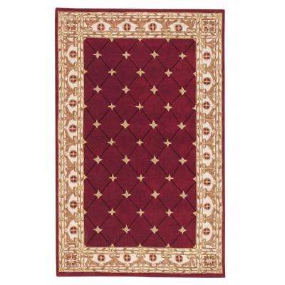 Windsor Burgundy 4 ft. x 6 ft. Area Rug