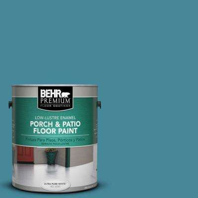 1 gal. #S460-5 Blue Square Low-Lustre Porch and Patio Floor Paint