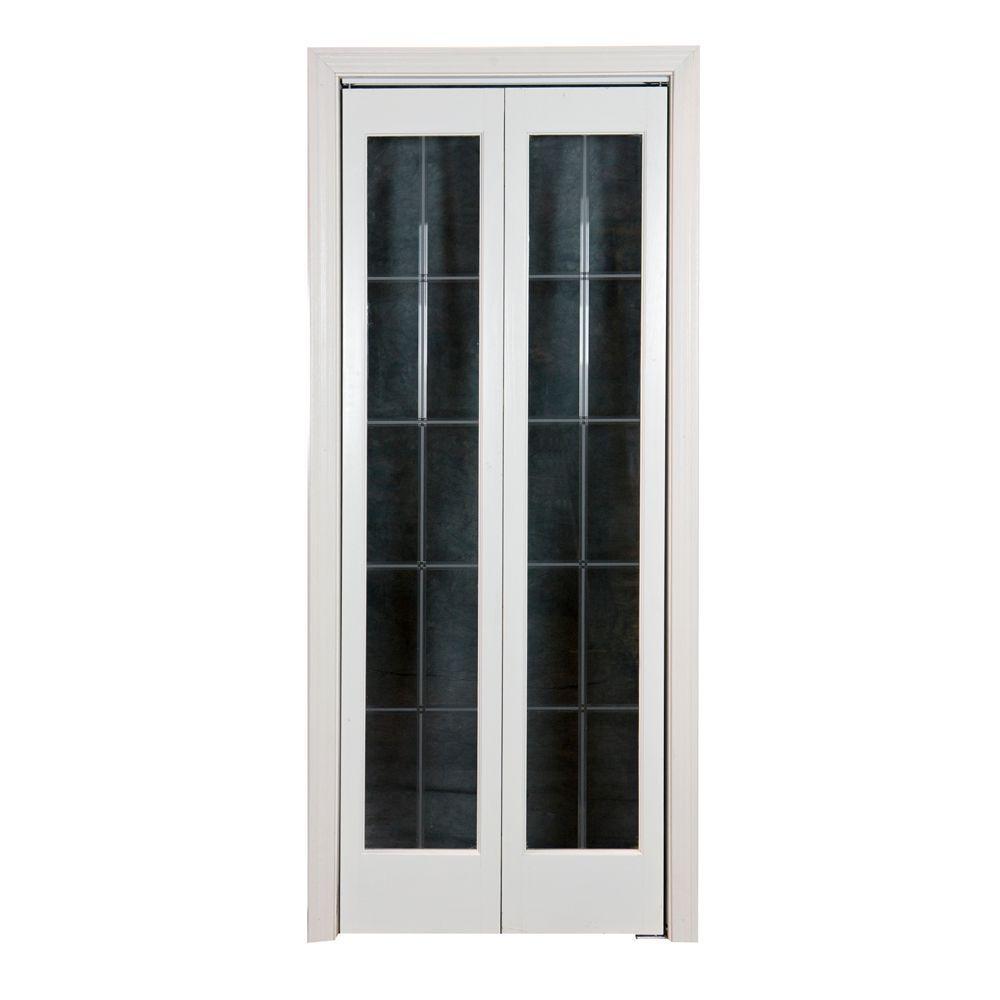 Pinecroft 36 in. x 80 in. Optique Wood Universal/Reversible Interior Bi-fold Door