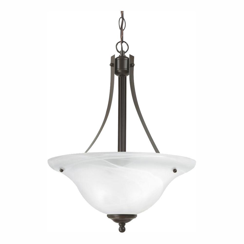 Sea Gull Lighting Windgate 2-Light Heirloom Bronze Pendant with LED Bulbs