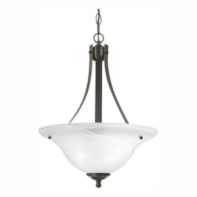 Windgate 2-Light Heirloom Bronze Pendant with LED Bulbs