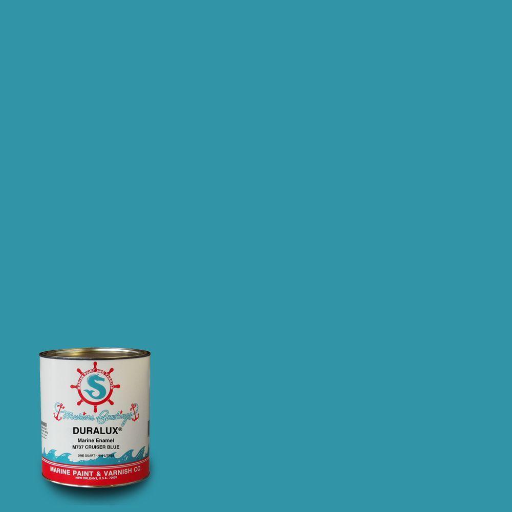 Duralux Marine Paint 1 Qt Cruiser Blue Enamel