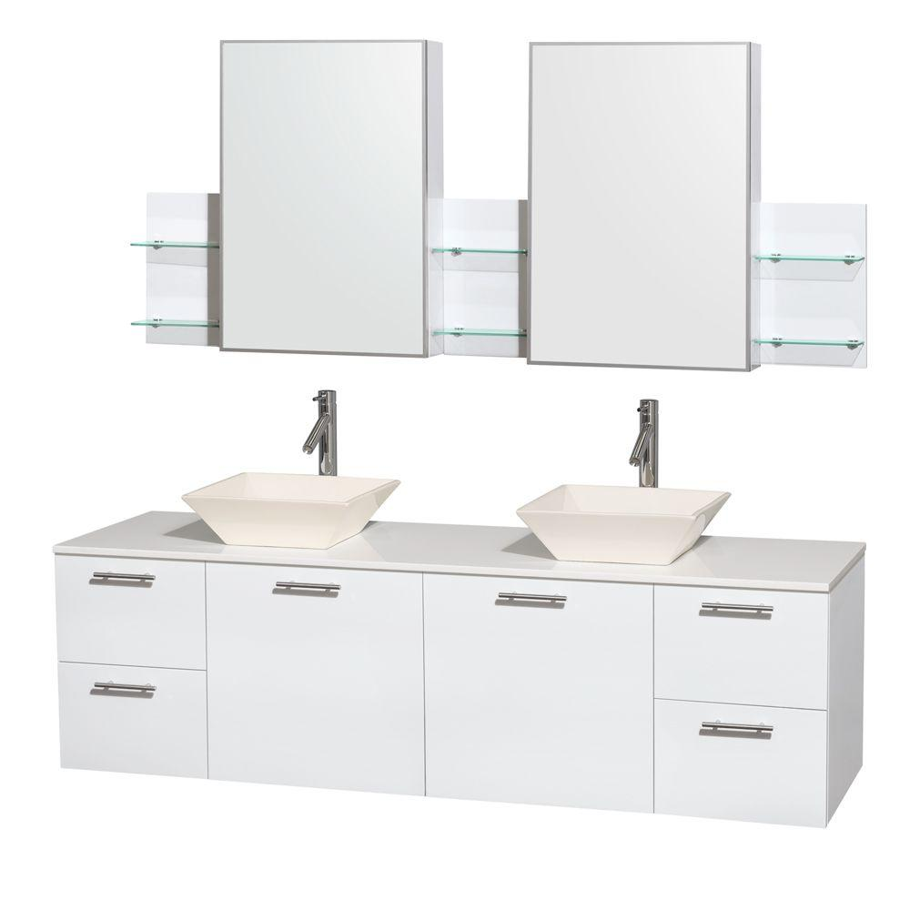 bathroom home white designs open medicine with mirror cabinet