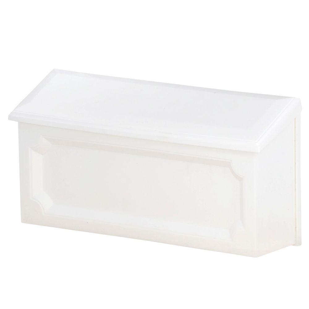 Windsor White Wall-Mount Mailbox