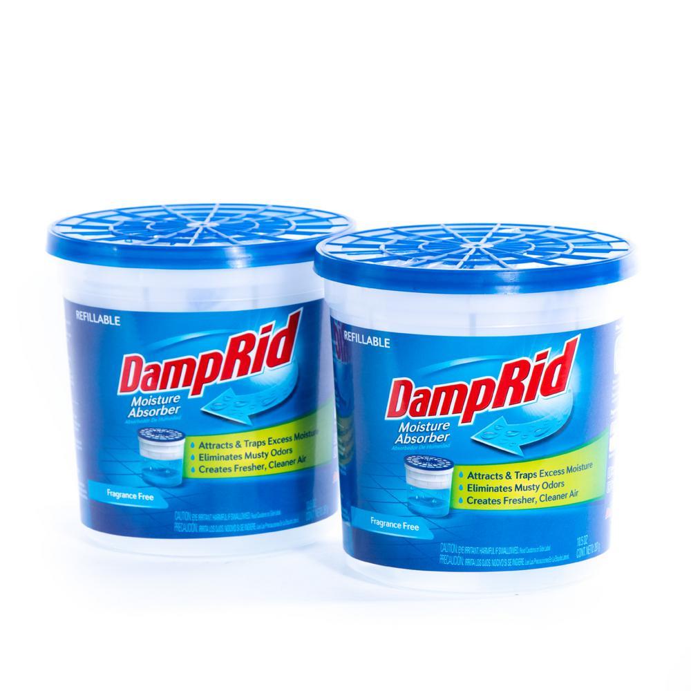 DampRid 10.5 oz. Fragrance Free Refillable Moisture Absorber (2-Pack)
