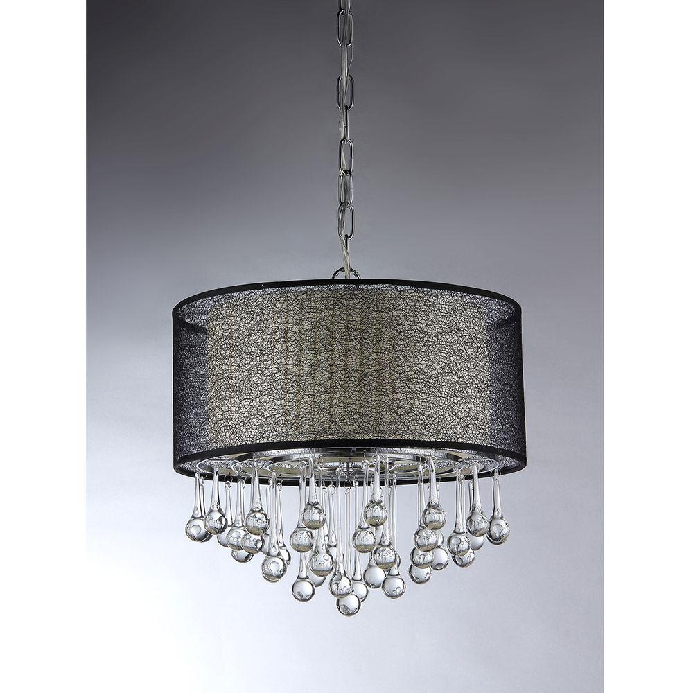 Pendant Light Kmart: Warehouse Of Tiffany Madeline Crystal 4-Light Chrome