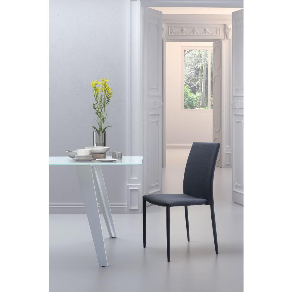 Zuo Confidence Black Polyblend Dining Chair Set Of 4