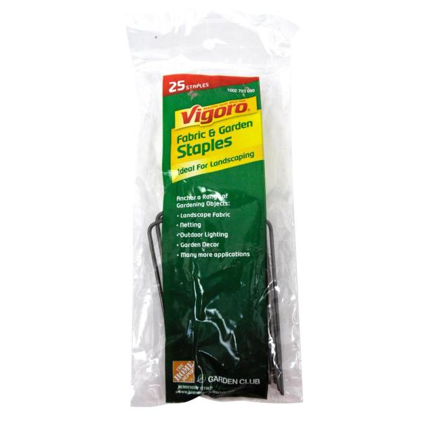 4 in. Weed Barrier Landscape Fabric Garden Staples (25-Pack)