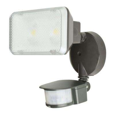 14-Watt 180° Bronze Motion Activated Outdoor Integrated LED Flood Light