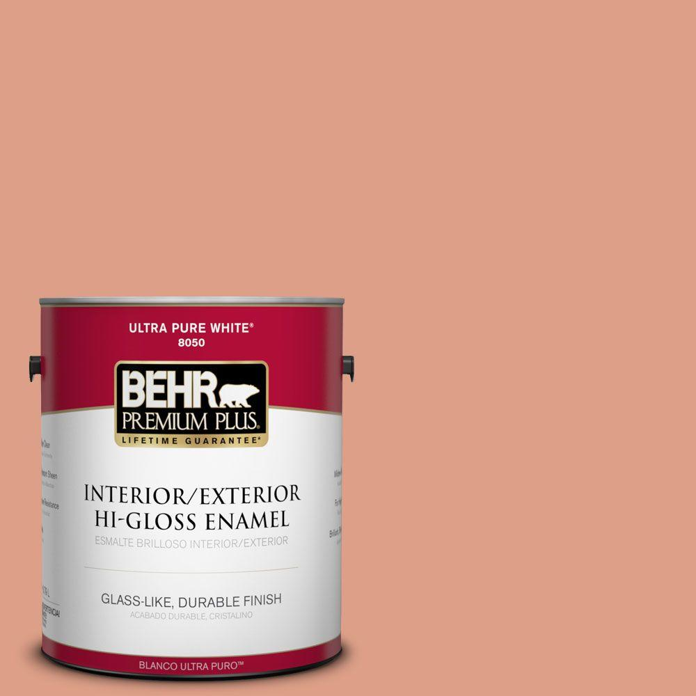 1-gal. #220D-4 Southwest Stone Hi-Gloss Enamel Interior/Exterior Paint