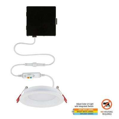 Slim Baffle 4 in. Color Selectable Canless LED Recessed Kit