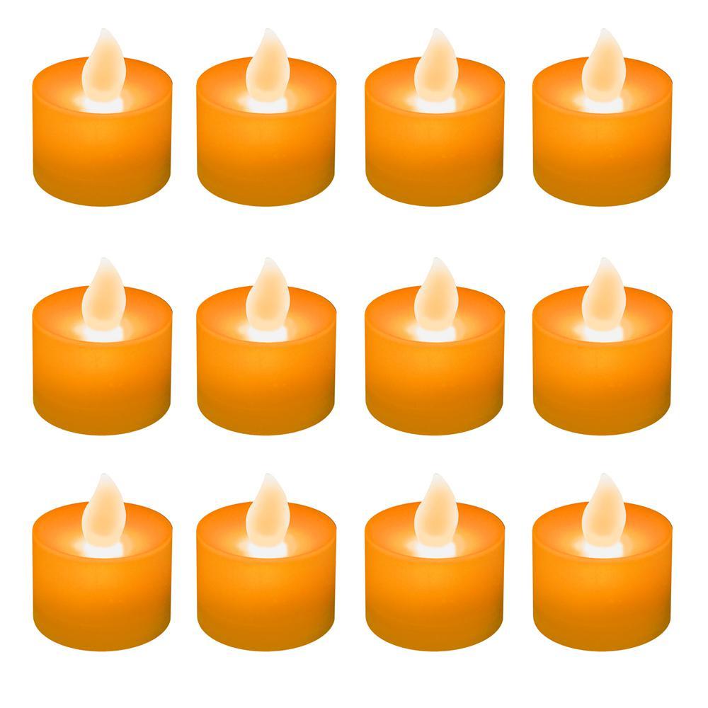 Lumabase Orange LED Tealights (Box of 12)