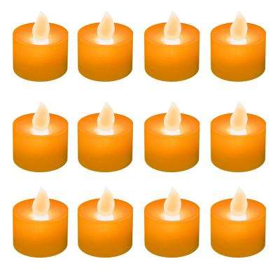 Orange LED Tealights (Box of 12)