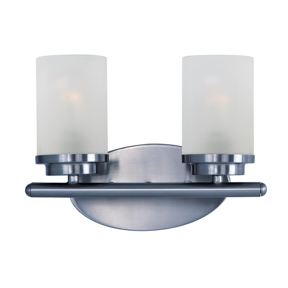 Corona 2-Light Polished Chrome Bath Light Vanity