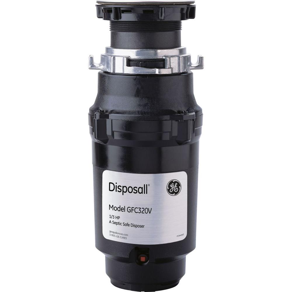 GE 1/3 HP Continuous Feed Garbage Disposal