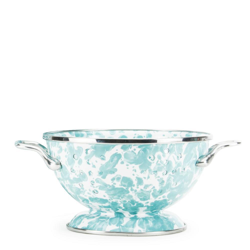 Sea Glass 1 qt. Enamelware Colander