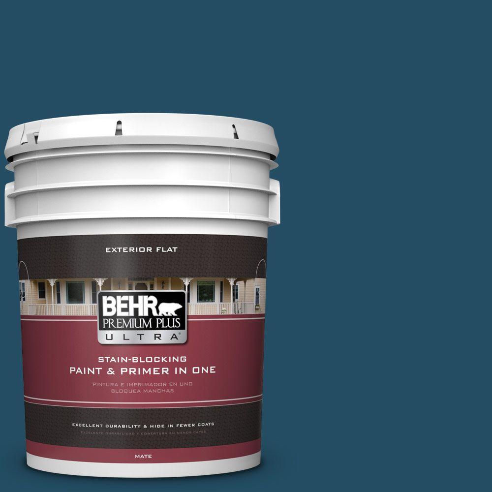 BEHR Premium Plus Ultra 5-gal. #560D-7 Planetarium Flat Exterior Paint
