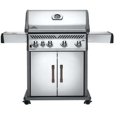 Rogue 525 4-Burner Natural Gas Grill in Stainless Steel with Range Side-Burner