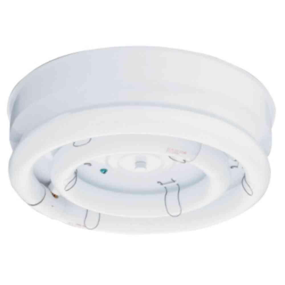 Lithonia Lighting 12 In 2 Light 22 32 Watt White Bare Circline Fluorescent Flush Mount