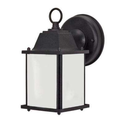 Chaz 1-Light Black Outdoor Sconce