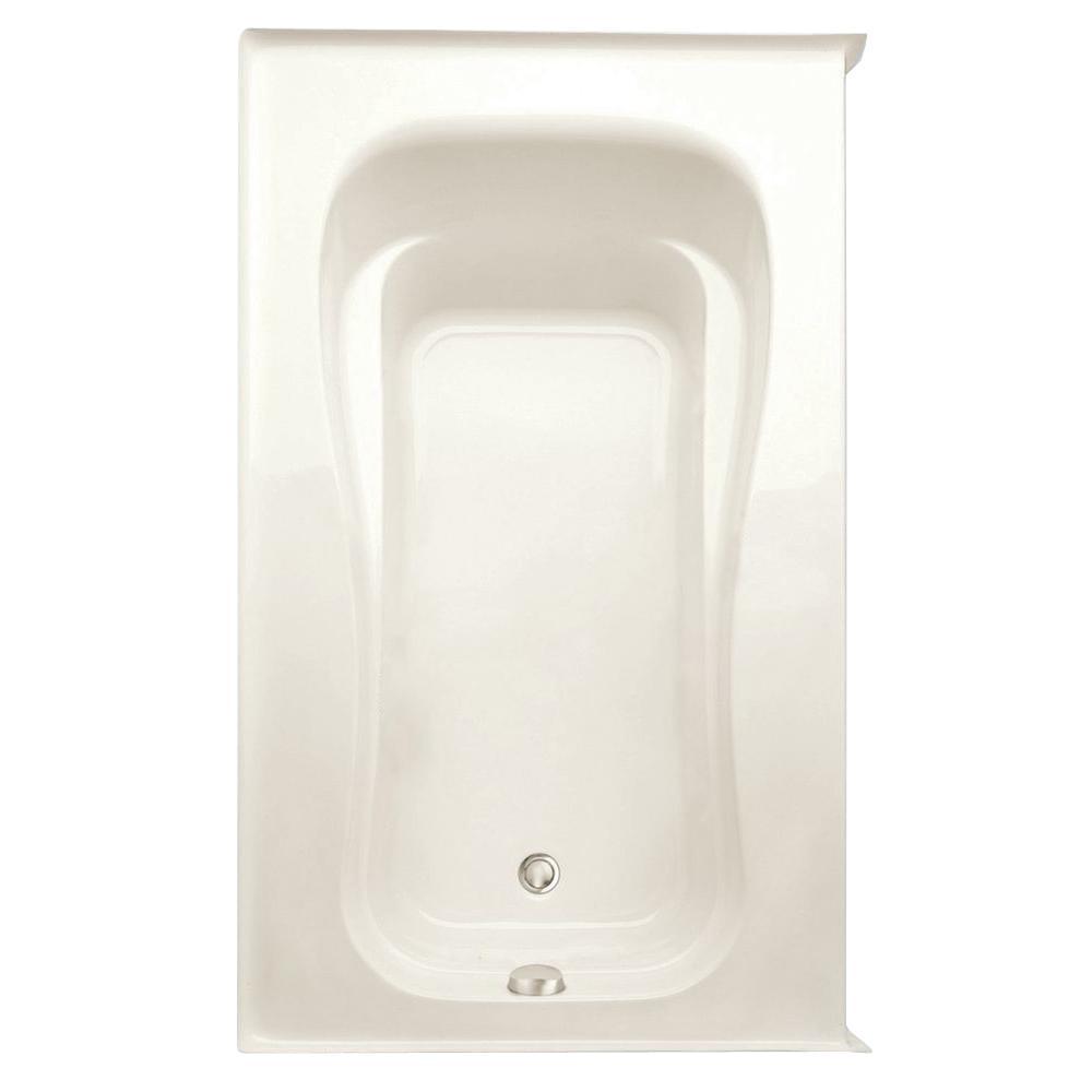 Novelli 60 in. Acrylic Left Drain Rectanglular Alcove Soaking Bathtub in Biscuit