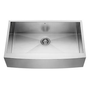 farmhouse apron front stainless steel 36 in single basin kitchen sink
