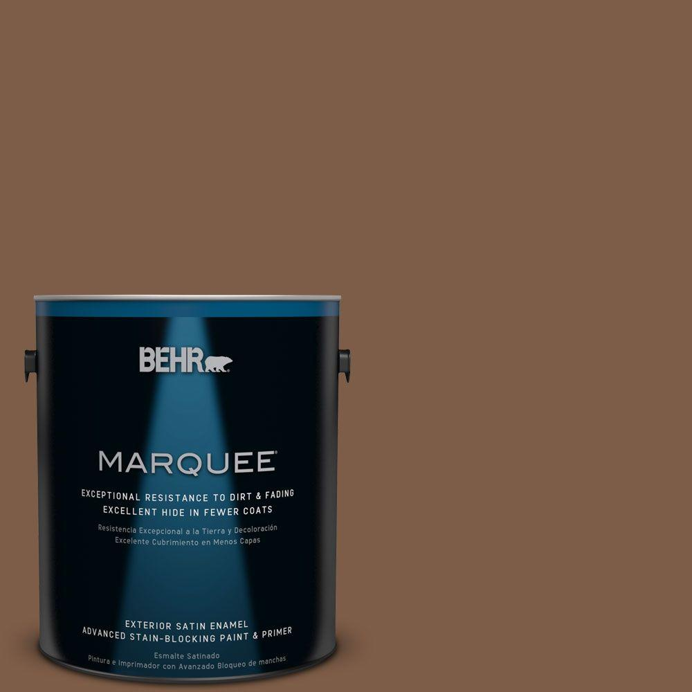 BEHR MARQUEE 1-gal. #BXC-65 Outback Brown Satin Enamel Exterior Paint