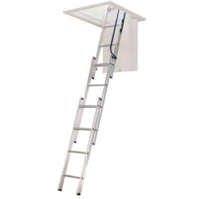 7 ft. - 9 ft., 18 in. x 24 in. Compact Aluminum Attic Ladder with 250 lb. Maximum Load Capacity