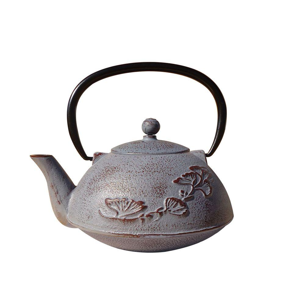 Old Dutch 33 oz. Dusty Plum Cast Iron Nikko Teapot-DISCONTINUED