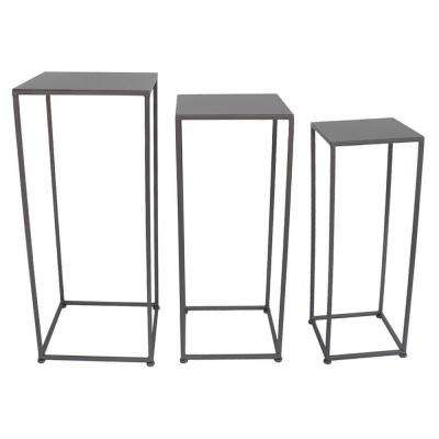 27.5 in. Metal Plant Stand (Set of 3)