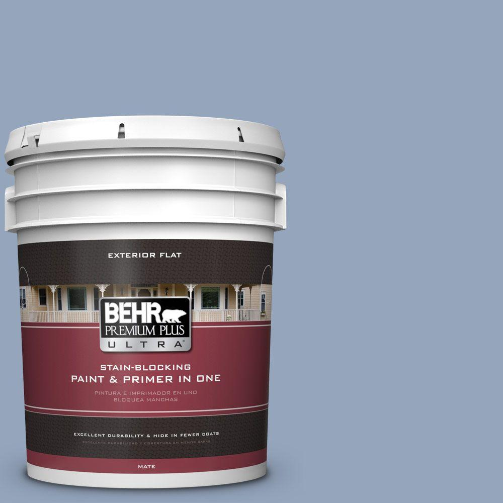 5-gal. #580F-4 River Valley Flat Exterior Paint