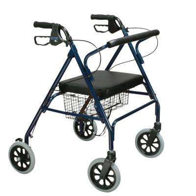Heavy Duty Bariatric 4-Wheel Rollator Walker with Large Padded Seat