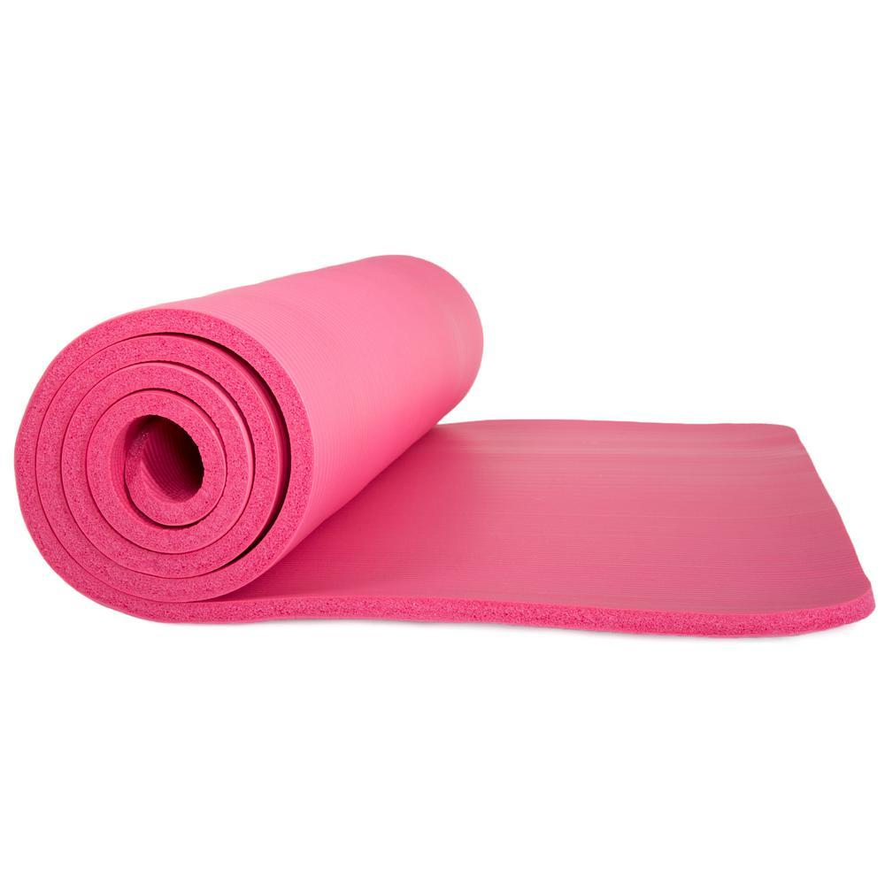 72 in. Non-Slip Luxury Foam Pink Camping Sleep Mat