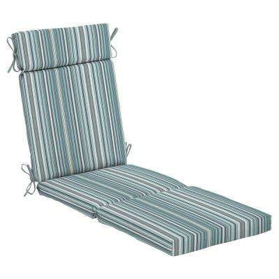 Charleston Stripe Outdoor Chaise Lounge Cushion