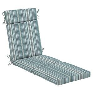 21.5 in. x 29 in. Charleston Stripe Outdoor Chaise Lounge Cushion