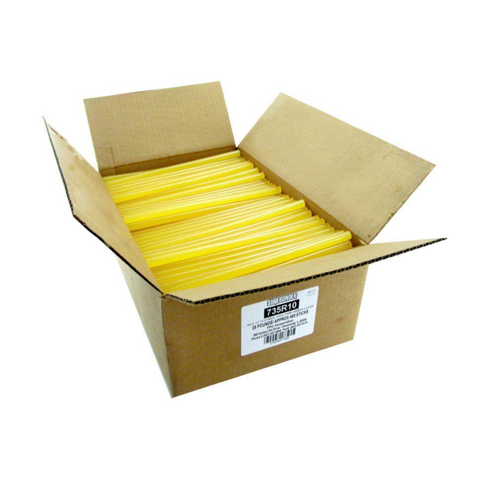 Surebonder 10 inch x 7/16 inch Dia High Strength Full Size Glue Sticks (25 lb. Bulk Pack) by Surebonder
