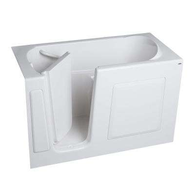 Gelcoat 51 in. x 31 in. Walk-In Whirlpool Tub with Left Hand Quick Drain and Extension Kit in White