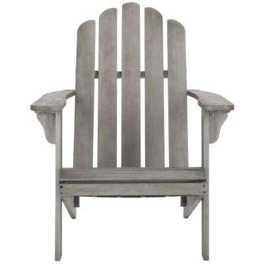 Topher Grey Wash Wood Adirondack Chair