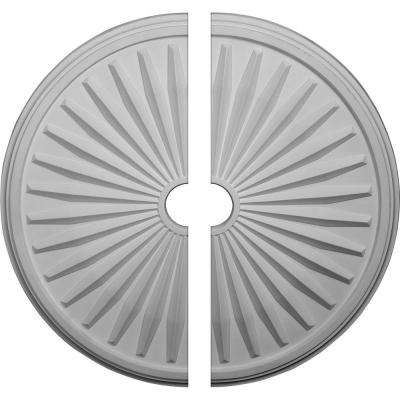 33-1/8 in. O.D. x 3-1/2 in. I.D. x 1-3/8 in. P Leandros Ceiling Medallion (2-Piece)