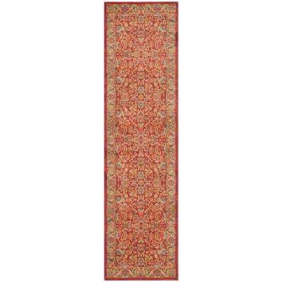 Mahal Red/Natural 2 ft. 2 in. x 18 ft. Runner Rug